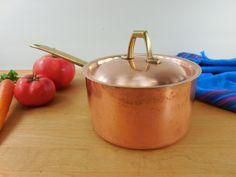 Paul Revere Ware Signature Limited Edition - 1 Quart Saucepan Pot Lid - Copper Stainless Brass Vintage Cookware