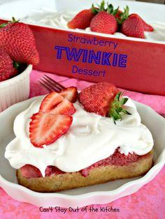 Strawberry Twinkie Dessert - \ crazy.... easy dessert. who knew?