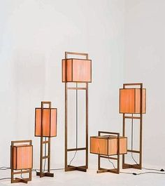 Contemporary floor lamps by Chris Lehrecke for Ralph Pucci.