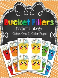 Primary Graffiti: Bucket Fillers {Pocket Labels, Banner, and Notes)! Freebie Links Embedded too!!!