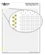 Printable Seed Bead Graph Paper. Now I can make my own