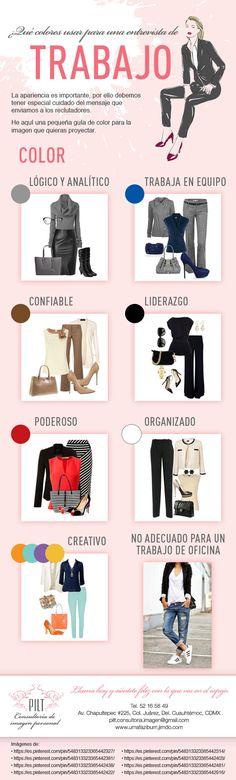 Una pequeña guía con consejos acerca de la mejor forma de combinar los colores en la ropa para una entrevista de trabajo. #colores #consejos #moda