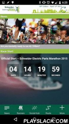 Paris Marathon 2015  Android App - playslack.com , Download the official application of the 2015 Schneider Electric Paris Marathon!The Schneider Electric Paris Marathon will take place Sunday April 12th 2015.The 42,195 km race will go through Paris from the Champs-Élysées Avenue to Foch Avenue by going through Bastille, Nation, Vincennes, Tuileries …With the official application get access to many features:- News on the event- Interactive map- Live standing / timing of top 20 runners during…
