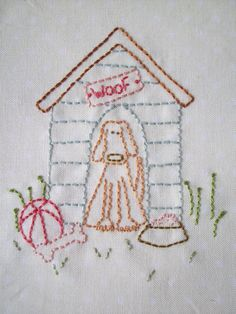 Embroidery- Dog House