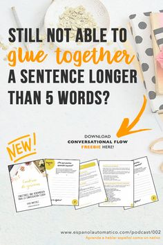 Get our FREEBIE and gain conversational flow in Spanish! ✿ Spanish Learning/ Teaching Spanish / Spanish Language / Spanish vocabulary / Spoken Spanish / More fun Spanish Resources at http://espanolautomatico.com ✿ Share it with people who are serious about learning Spanish!