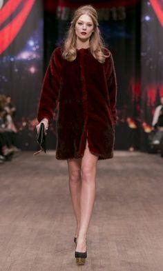 Swedish designer Ida Sjöstedt | MBFW Stockholm fall 2013 furr coat