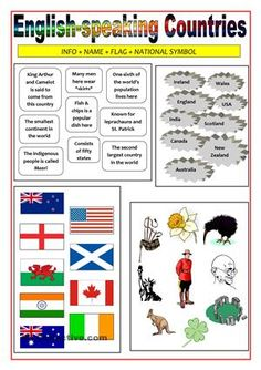 worksheet english speaking countries - Recherche Google