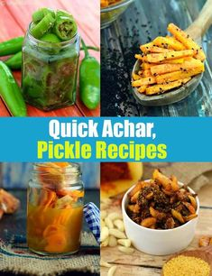 Quick Aachar Recipes, 30 Quick Indian Pickle Recipes, Tarladalal.com