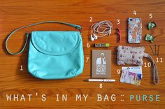 ♥elycia: what's in my bag :: purse