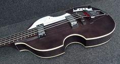 HOFNER VIOLIN BEATLE BASS GUITAR GREAT UK VINTAGE STYLE VIBE TRANSPARENT BLACK