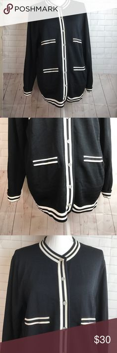 """Finity Button Down jacket size 3X black white Measurements taken with Garments laying flat and approximate. Pit to pit : 22"""" Length from top of the shoulder:24"""" Sleeves inseam: 17""""  In great pre-own condition see pictures for the best ideas of condition.  All items come from Smoke free environment!! finity Tops"""