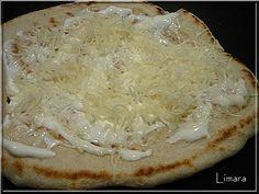 Limara péksége: Lepénykenyér serpenyőben Wok, Quiche, Camembert Cheese, Bakery, Lime, Pasta, Bread, Cooking, Baguette