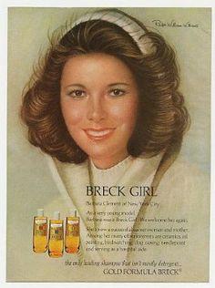 Amazon.com: 1975 Breck Girl Barbara Clement Ralph W Williams Print Ad: Home & Kitchen
