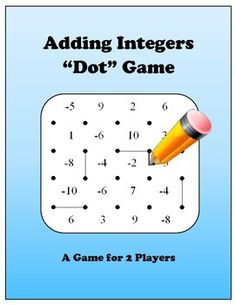 This is a new take on an old favorite. This game for two players has students taking turns drawing lines on a grid. Each time a player closes a box with the fourth side, the player takes the box, and goes again. But in this game, the box contains an integer which the player must then add to his or her score.