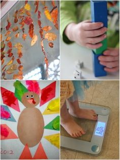 A leaf window, learning activities and 10 turkey crafts for kids