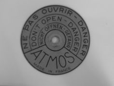Warning plate from the Reutter drum.