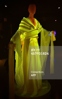 Glowing Silk Dress made by special silkworms using gene recombination technology