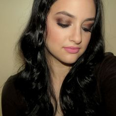 100% drugstore MOTD: bronze smokey eyes and pink lips | Rachel Shuchat Makeup