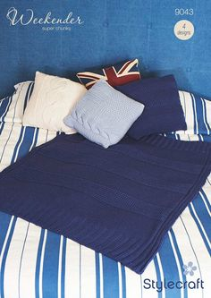 Sale Yarns: Cushions and Throw by Stylecraft, download on LoveKnitting