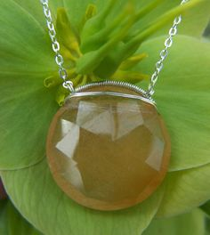 Golden Rutilated  Quartz sterling silver coil wrap by JPGemJewels, $118.00