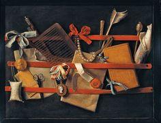 Tromp-l'oeil Still-Life 1664 Hoogstraeten - Samuel Dirksz van Hoogstraten - Wikipedia