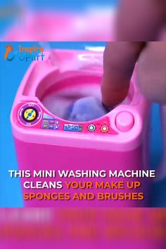 Makeup Sponge & Brush Washing Machine 😍 Do you clean your makeup sponge and brushes? No? Who can blame you! it's an annoying and messy task. This sweet & simple washing machine helps you clean your makeup tools in seconds. It's incredibly simple to use. All you need to do is fill the washing machine with warm water and soap to scrub your dirty brushes with a dab of gentle cleaner, and then press the little pink button to start your mini washing machine. Currently 50% OFF with FREE Shipping!