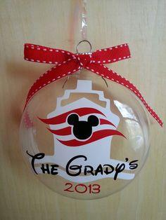 Disney cruise ornament