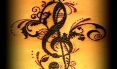 Music Staff Tattoo by Summer Henry at Avatar Tat2 in Cottonwood, AZ.