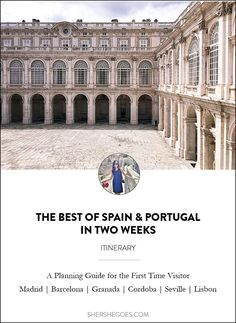 A 14 day itinerary covering the best of Spain and Portugal including Madrid, Barcelona, Granada, Cordoba, Seville and Lisbon. Find the itinerary on shershegoes.com as well as info on recommended day trips from Madrid and Barcelona!
