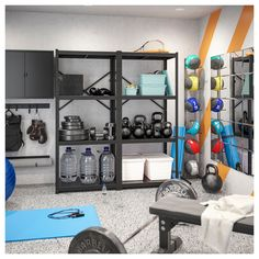 Home Gym Basement, Home Gym Garage, Diy Home Gym, Gym Room At Home, Home Gym Decor, Best Home Gym Setup, Dream Home Gym, Basement Workout Room, Workout Room Home