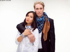 Elegante Designertücher für Damen und Herren von Sekai Colori mehr davon auf www.sekai-colori.de