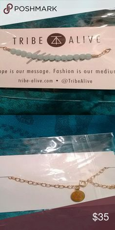 """""""Tribe Alive"""" Aquamarine beaded bracelet New in packaging. This Bracelet is stunning. """"Hope is our message, fashion is our medium"""" Tribe Alive Accessories"""