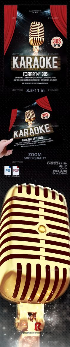 Karaoke Night Flyer  Night Flyers And Karaoke