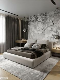 40 Perfect Bedroom Design Ideas That Inspire You - 40 Perfect Sleep . - 40 Perfect Bedroom Design Ideas That Inspire You – 40 Perfect Bedroom Design Ideas That Inspire Y - Master Bedroom Layout, Rustic Master Bedroom, Bedroom Layouts, Gray Bedroom, Master Suite, Bedroom 2018, Fall Bedroom, Bedroom Neutral, Bedroom Tv