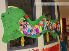 Chinese New Year Paper Plate Dragon