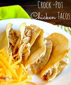 Crock-Pot Chicken Tacos Recipe (Super Easy and Yummy!) {Click here --> www.raininghotcou... }