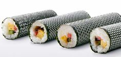 Laser cut seaweed makes the most beautiful sushi ever