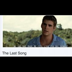 The last song!! I Love Liam Hemsworth!!