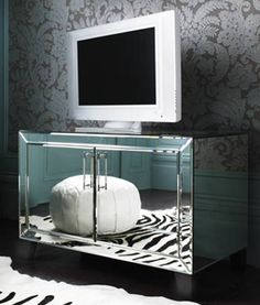 Isabelle Mirrored Media Cabinet