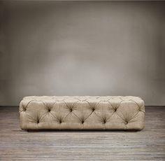Restoration Hardware Look-Alikes: Restoration Hardware Soho Tufted Upholstered Ottoman $1325 - $1765 vs $334.99 @ Overstock