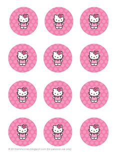 all things simple: simple celebrations: hello kitty party printables - tags