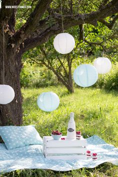 Vintage-Picknick und Cherry Cheesecake (via Bloglovin.com )