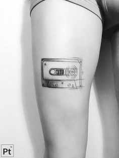 Tattoos for Small Women 2017 IDEAS!, Tattoo, My favorite tattoos. Small Music Tattoos, Small Thigh Tattoos, Music Tattoo Designs, Design Tattoo, Time Tattoos, Body Art Tattoos, Sleeve Tattoos, Cool Tattoos, Tatoos
