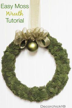 Easy Moss Wreath Tutorial | Decorchick!®