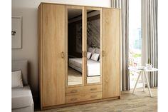 VILMA skriňa so zrkadlom, dub sonoma - Šatníkové skrine Luxury Furniture, Armoire, Divider, Room, Home Decor, Clothes Stand, Bedroom, Decoration Home, Closet