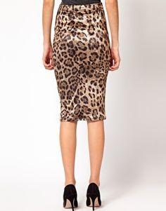 Animal Velour Skirt - $25