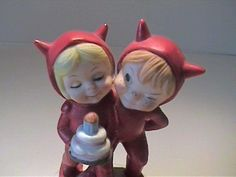 "VINTAGE 1960'S CERAMIC ""THE DEVIL MADE ME REMEMBER YOUR BIRTHDAY"" BY KELVIN (08/13/2016)"