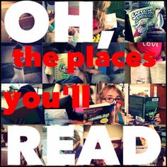 Another great idea from the Teen Librarian's Toolbox. A photo contest in honor of Dr. Seuss's birthday might be fun: library patrons submit photos of themselves reading in all kinds of places.