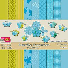 OklahomaDawn: Free Mini Kit ~ Butterflies Everywhere