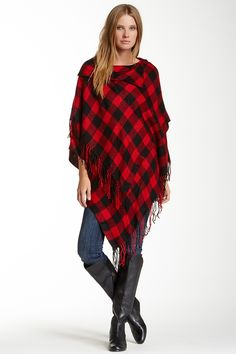 Plaid Poncho by Steve Madden on @nordstrom_rack